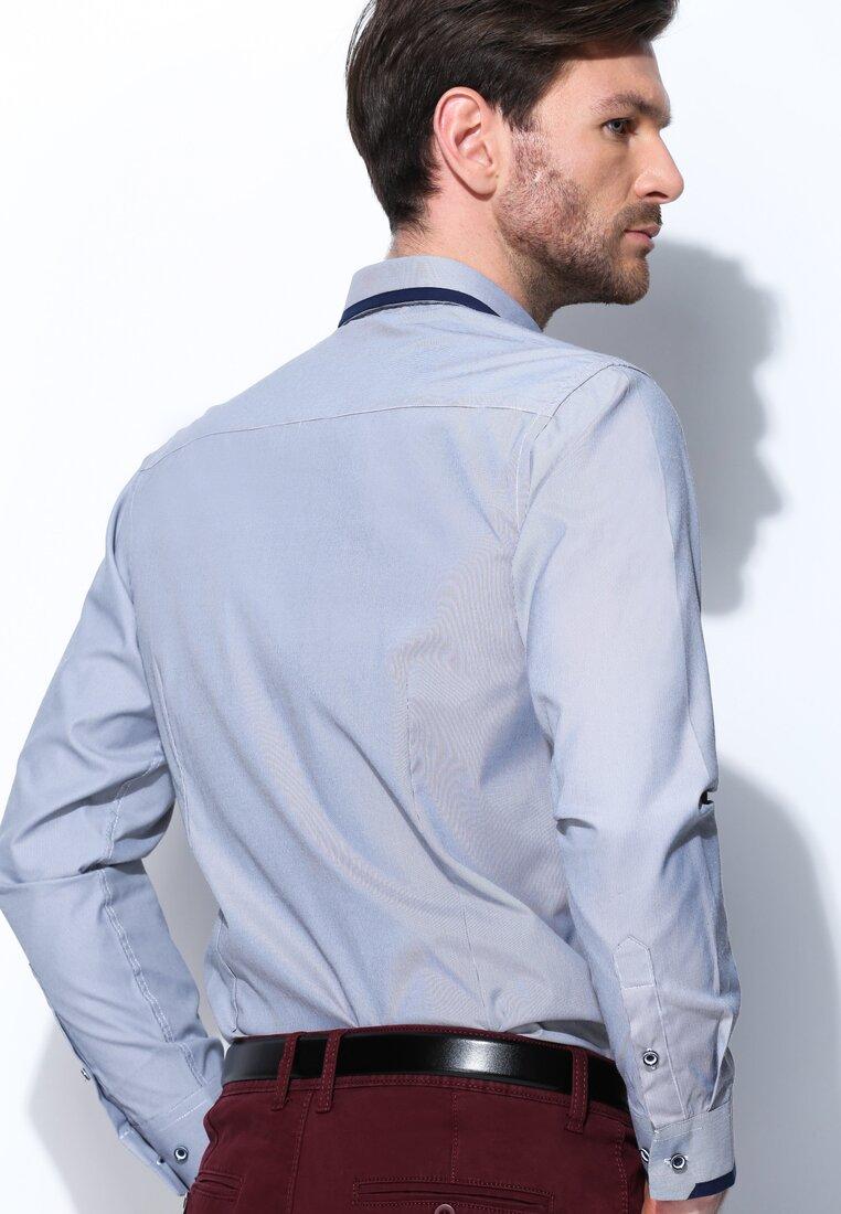 Szara Koszula Fancy Cuff
