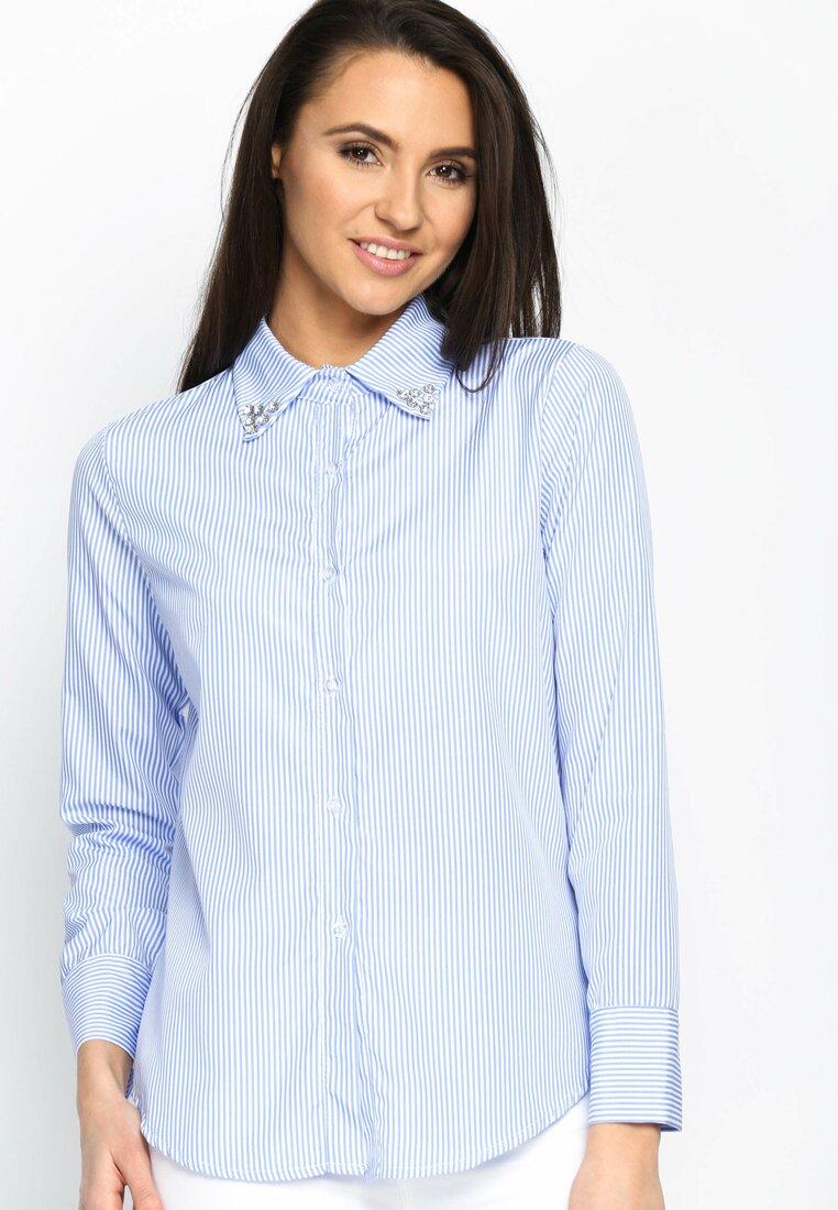 Niebieska Koszula Upright