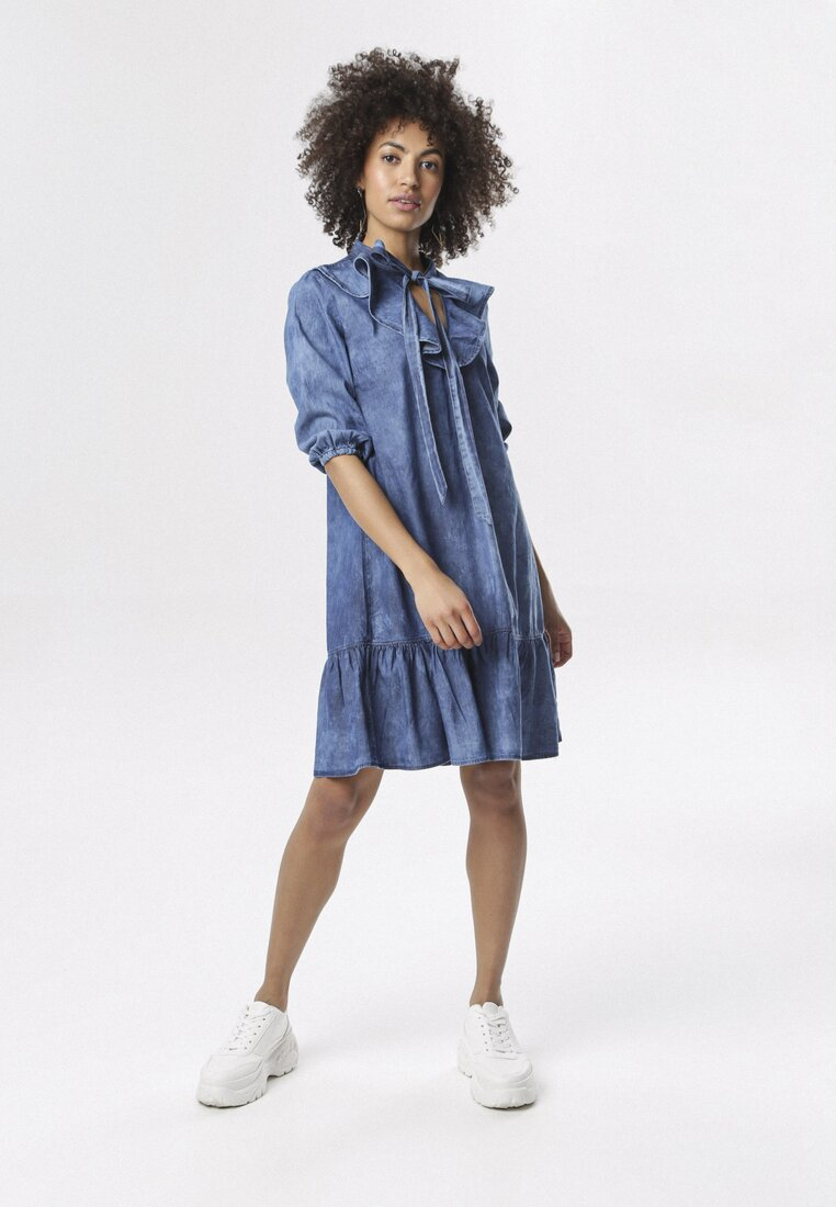 Niebieska Sukienka Friller other