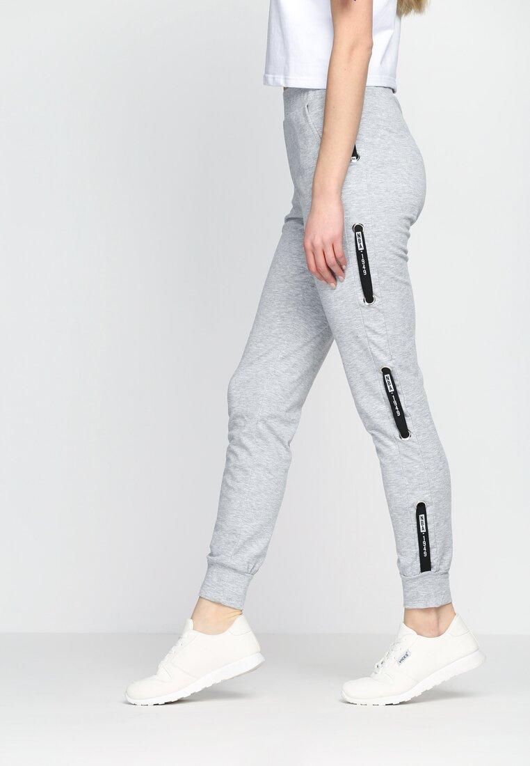 Szare Spodnie Dresowe Addiction