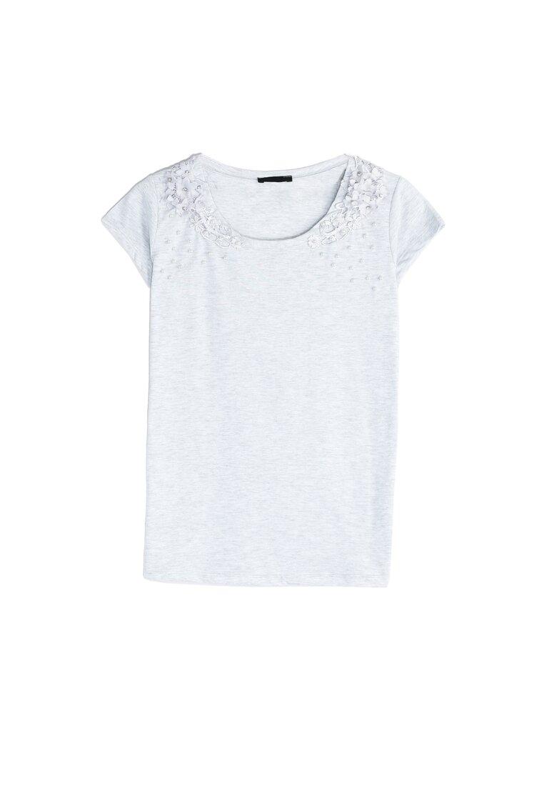 Jasnoszary T-shirt Comes Tumbling
