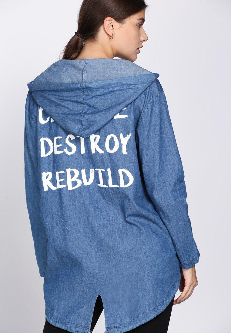 Ciemnoniebieska Bluza Rebuild