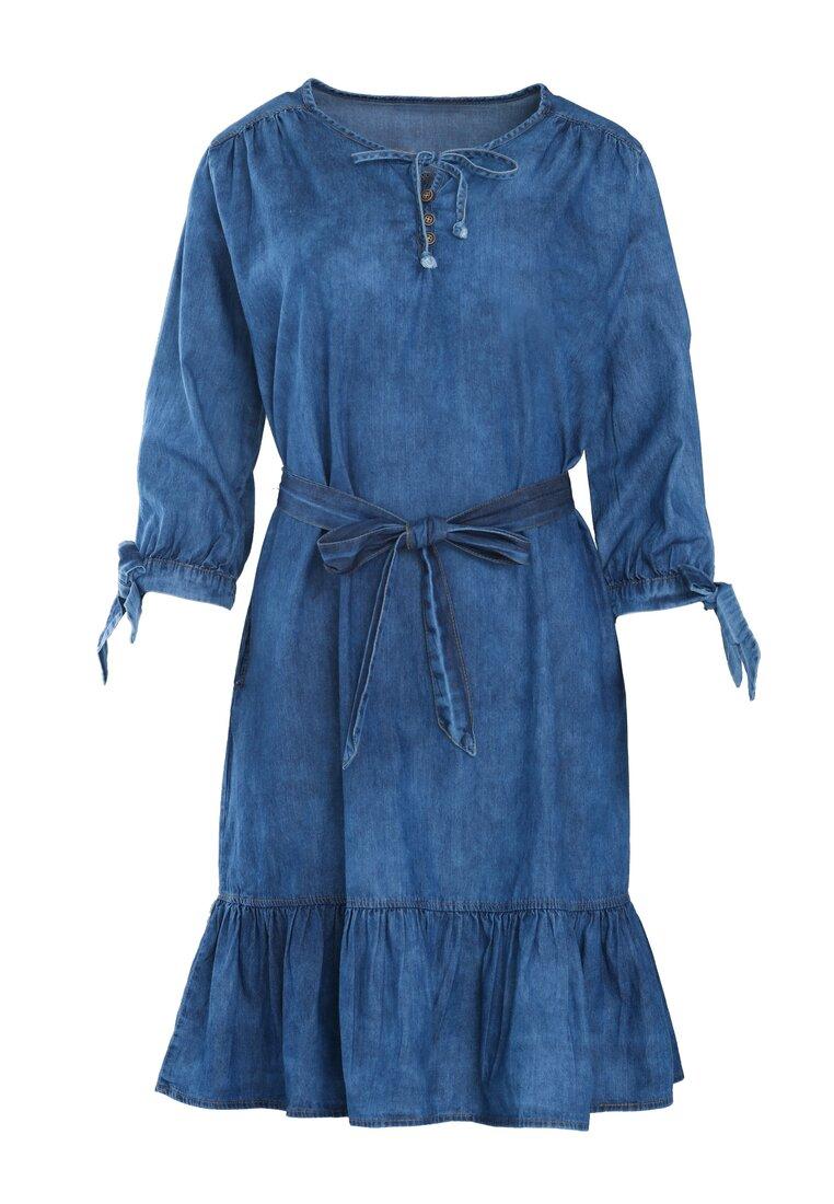 Niebieska Sukienka Girls Power