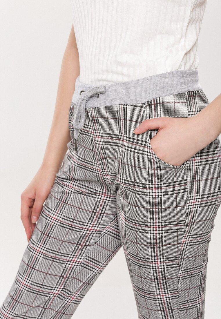 Szaro-Czerwone Spodnie Something More
