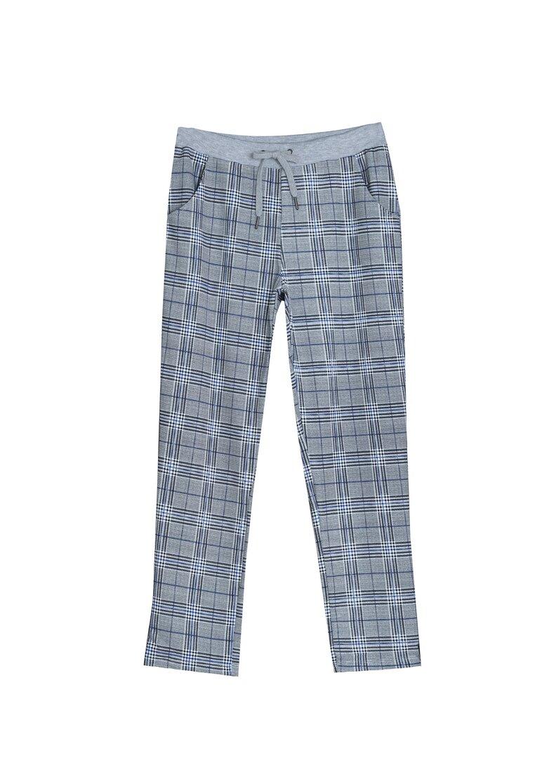 Szaro-Niebieskie Spodnie Something More