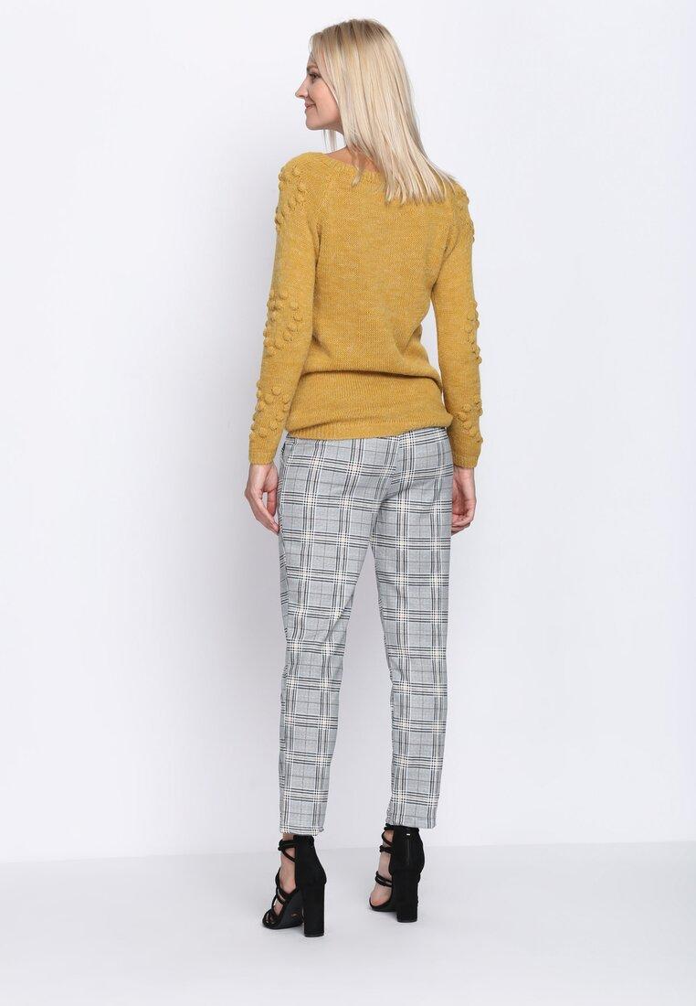Szaro-Żółte Spodnie Something More