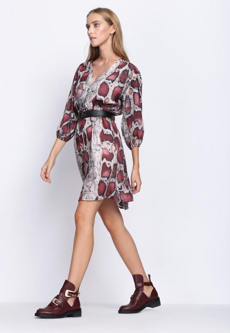 Bordowa Sukienka Now Or Never
