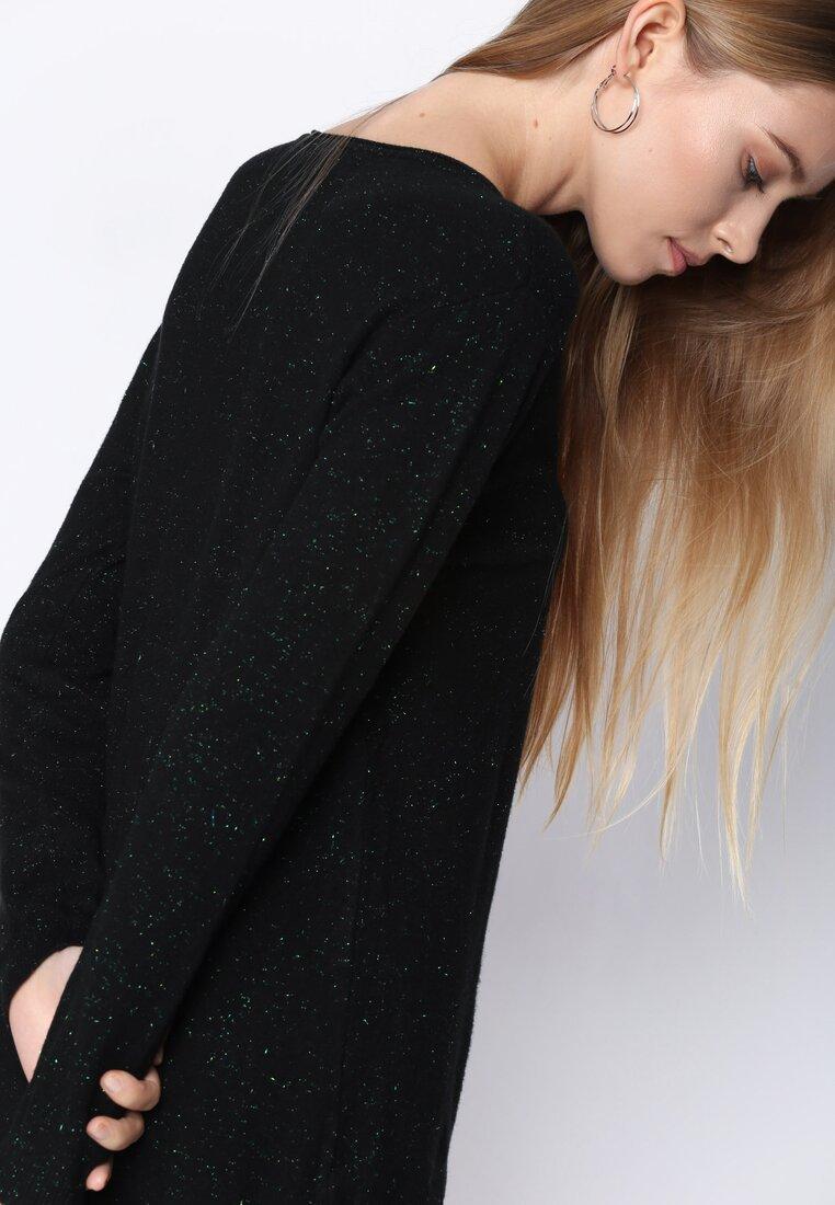Czarny Sweter White Glows