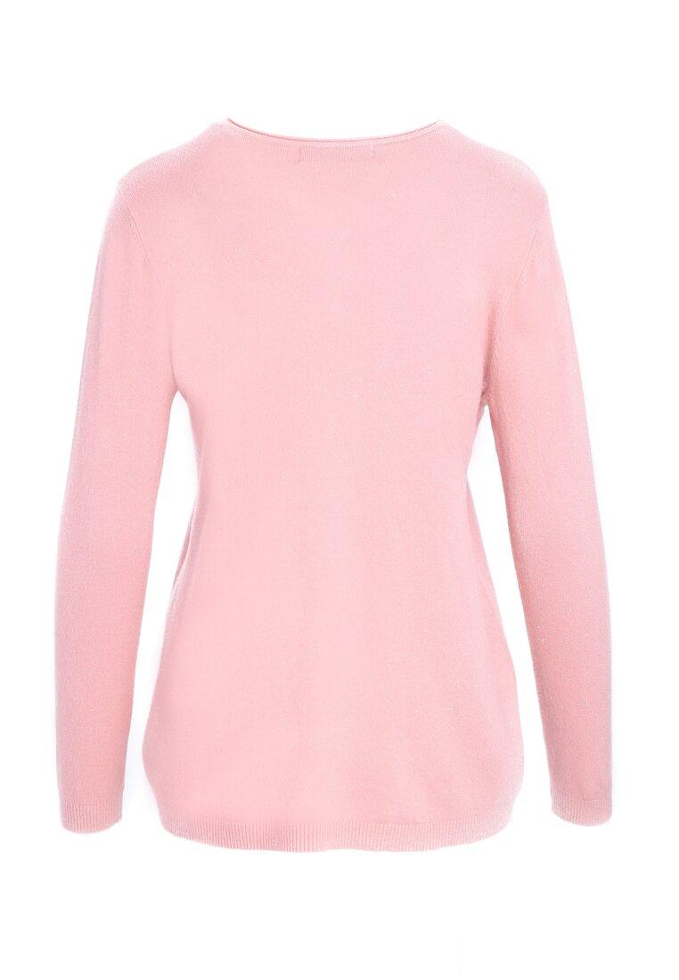 Różowy Sweter White Glows