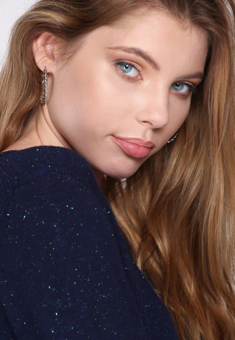 Granatowy Sweter White Glows