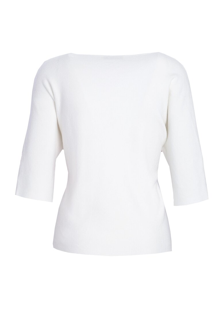 Biały Sweter So Ashamed