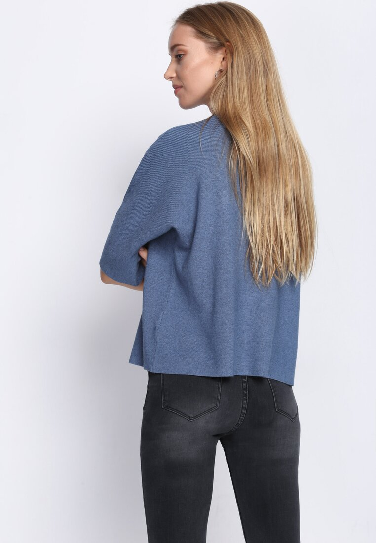 Niebieski Sweter So Ashamed