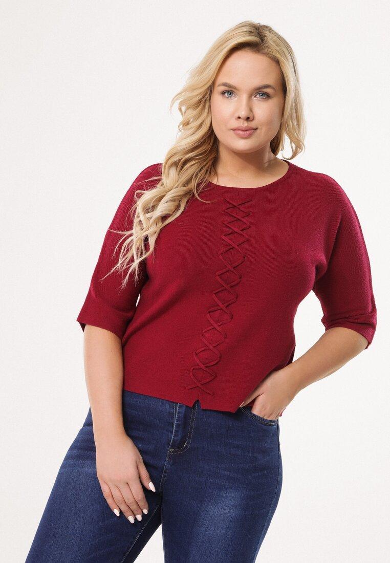 Bordowy Sweter So Ashamed