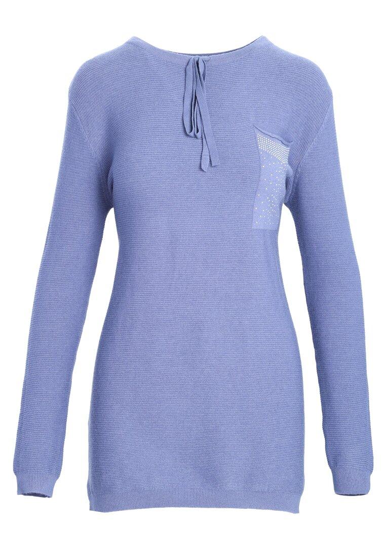 Niebieski Sweter Does It Feel
