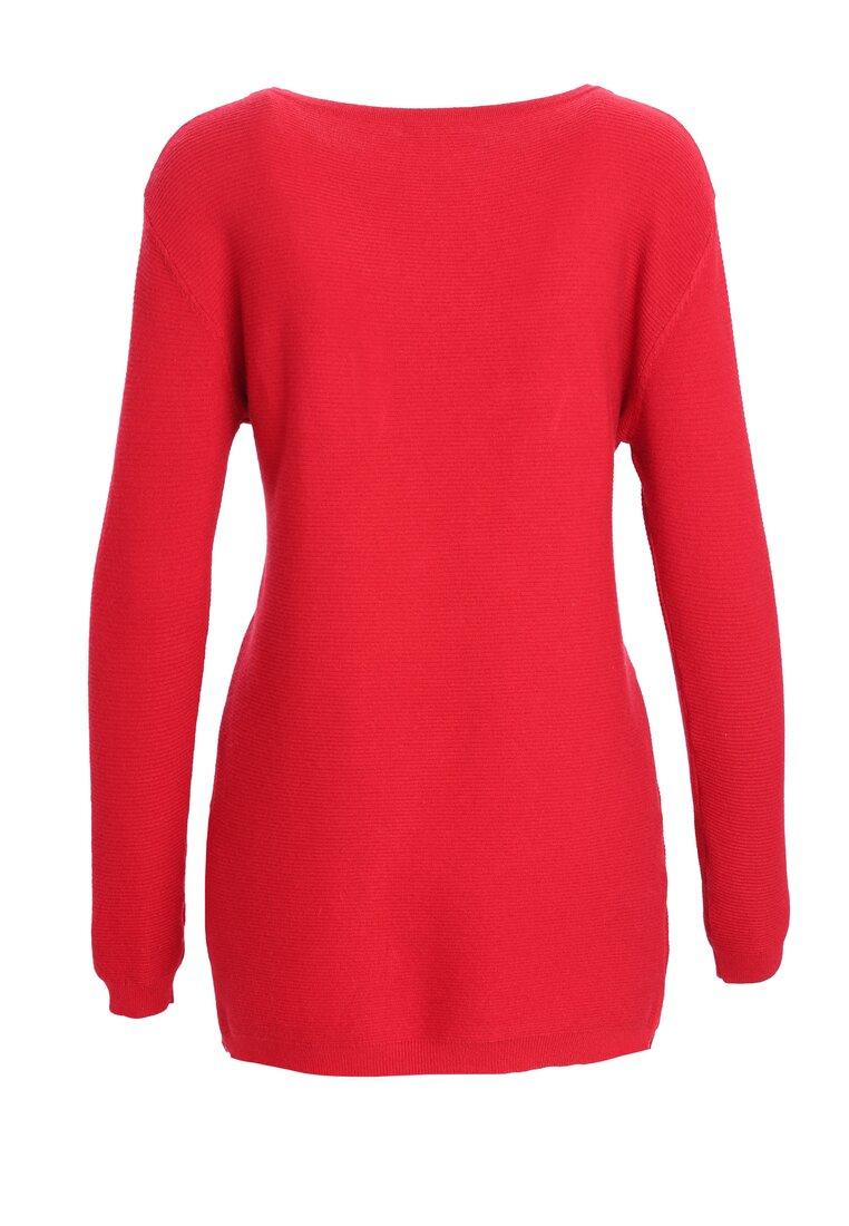 Czerwony Sweter Does It Feel