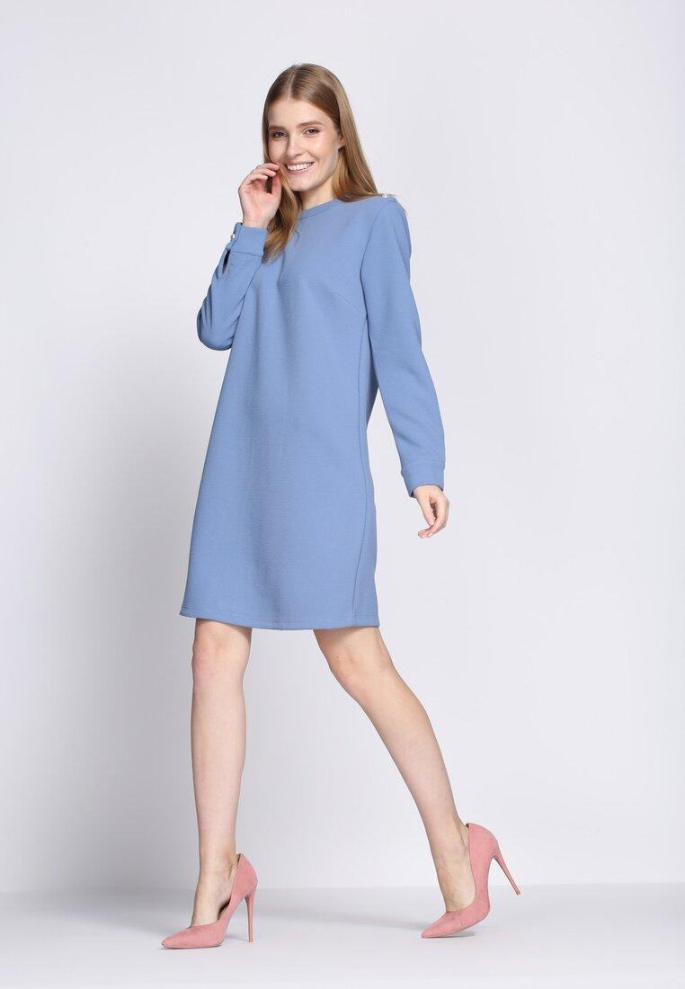 Niebieska Sukienka January Rain