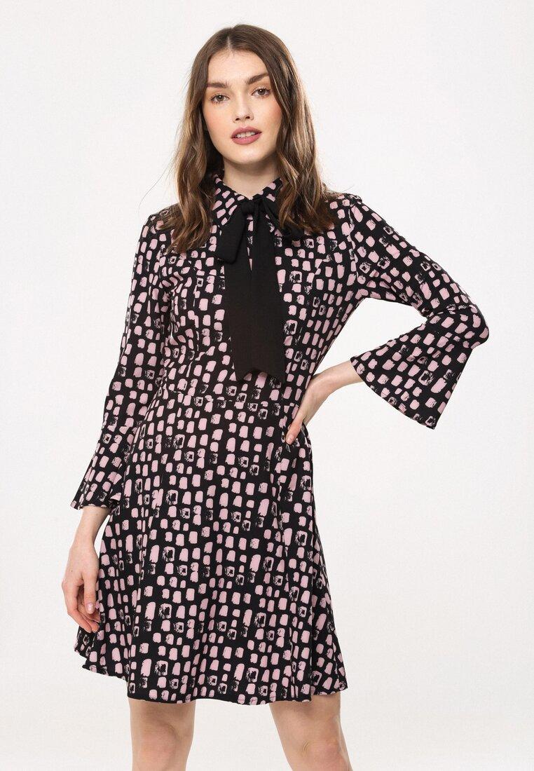 Czarno-Różowa Sukienka Beautiful Lady