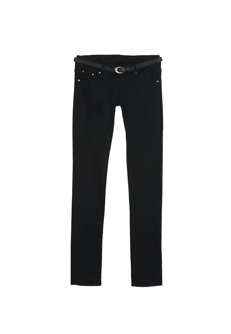 Czarne Spodnie Introverted