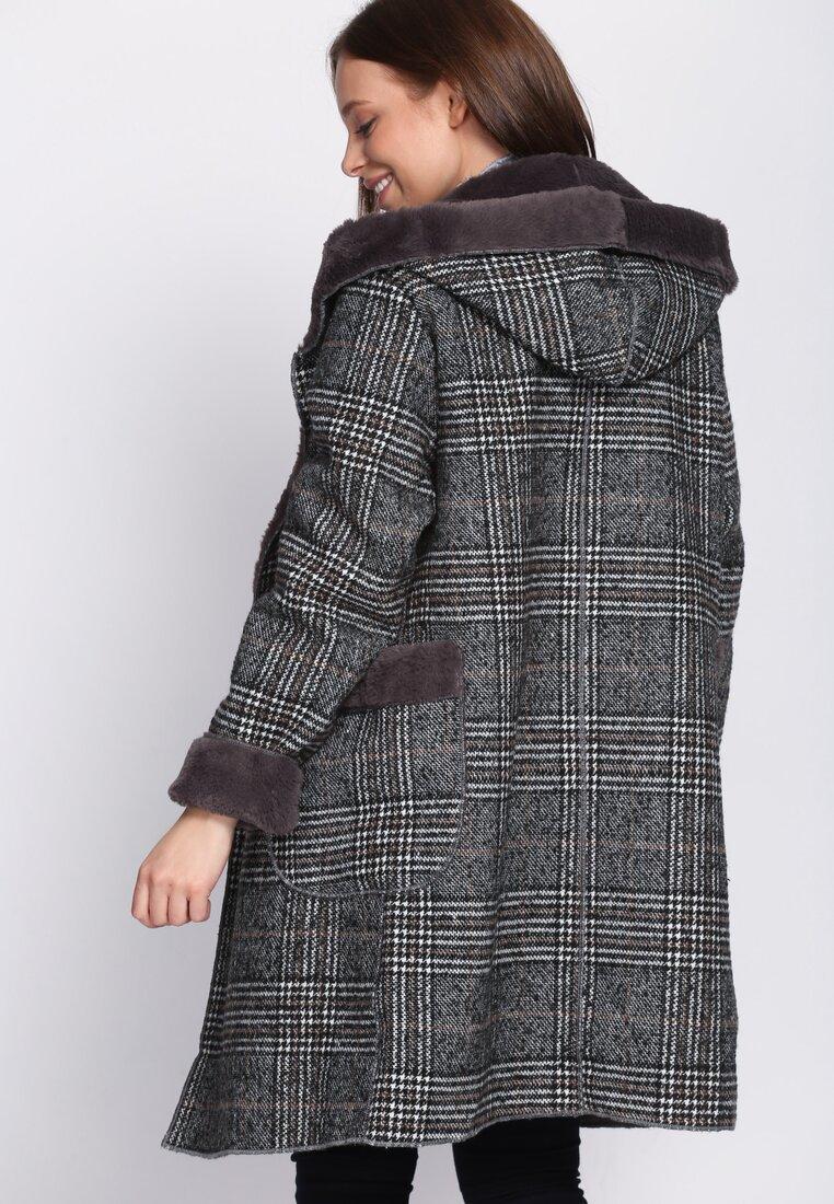 Ciemnoszary Płaszcz Regularly