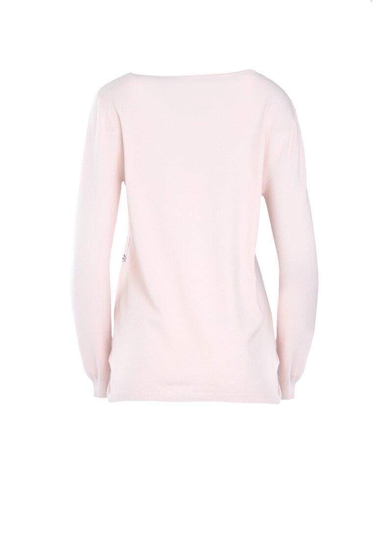 Jasnoróżowy Sweter Purpose