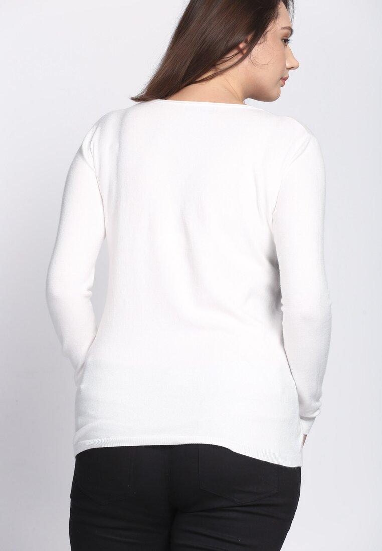 Biały Sweter Purpose