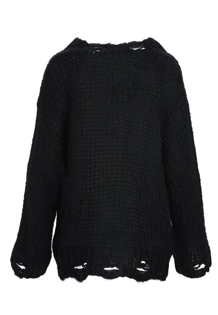 Czarny Sweter Obeisance