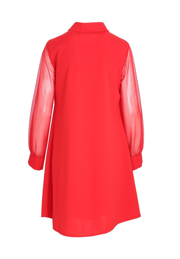 Czerwona Sukienka Leaning