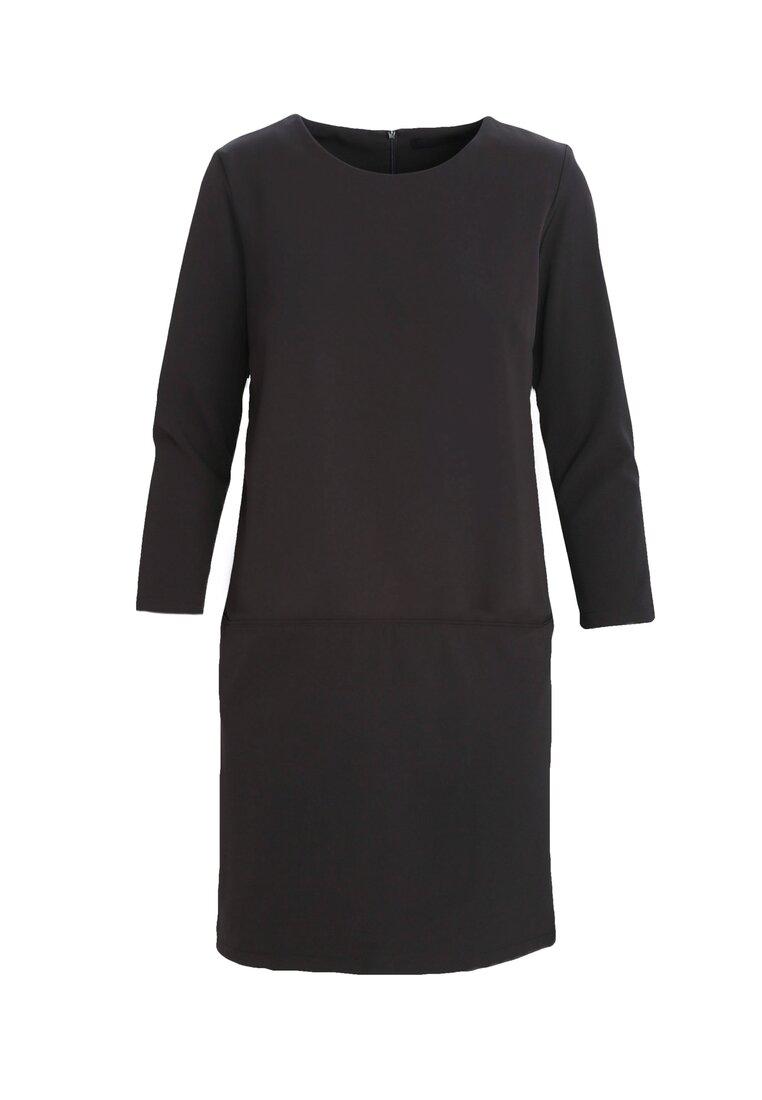 Czarna Sukienka Nipping