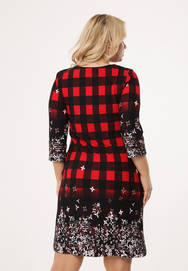 Czarno-Czerwona Sukienka Snappy