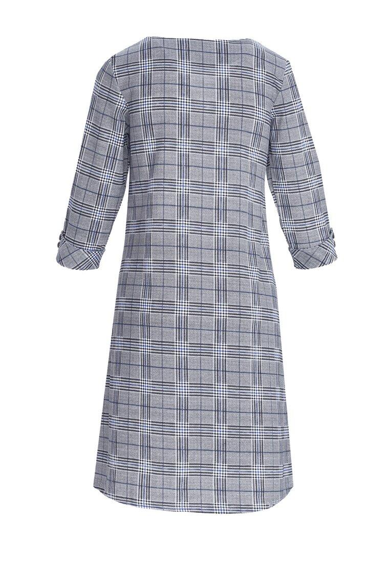 Szaro-Niebieska Sukienka Urgency