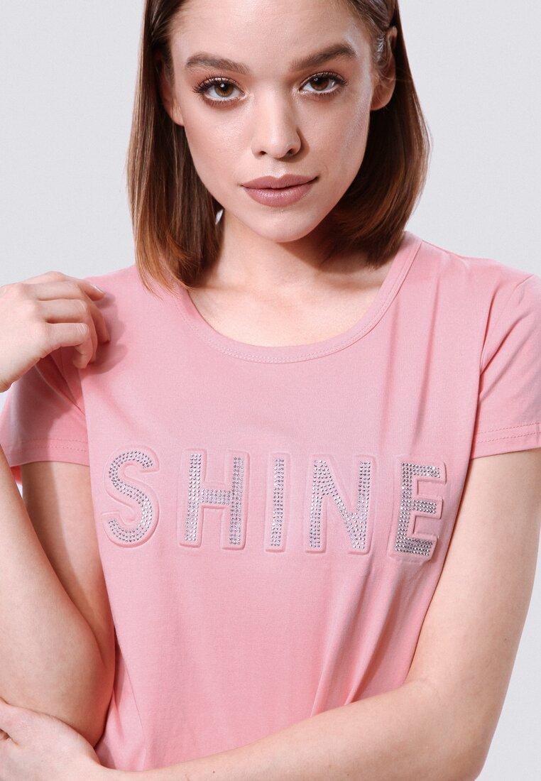 Różowy T-shirt Rich