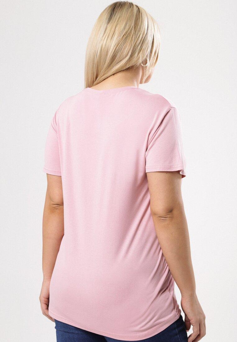 Różowy T-shirt In The Ballpark