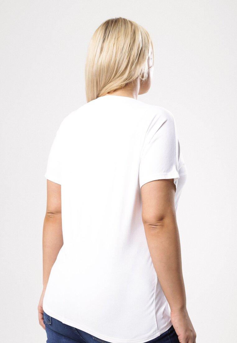 Biały T-shirt Famously