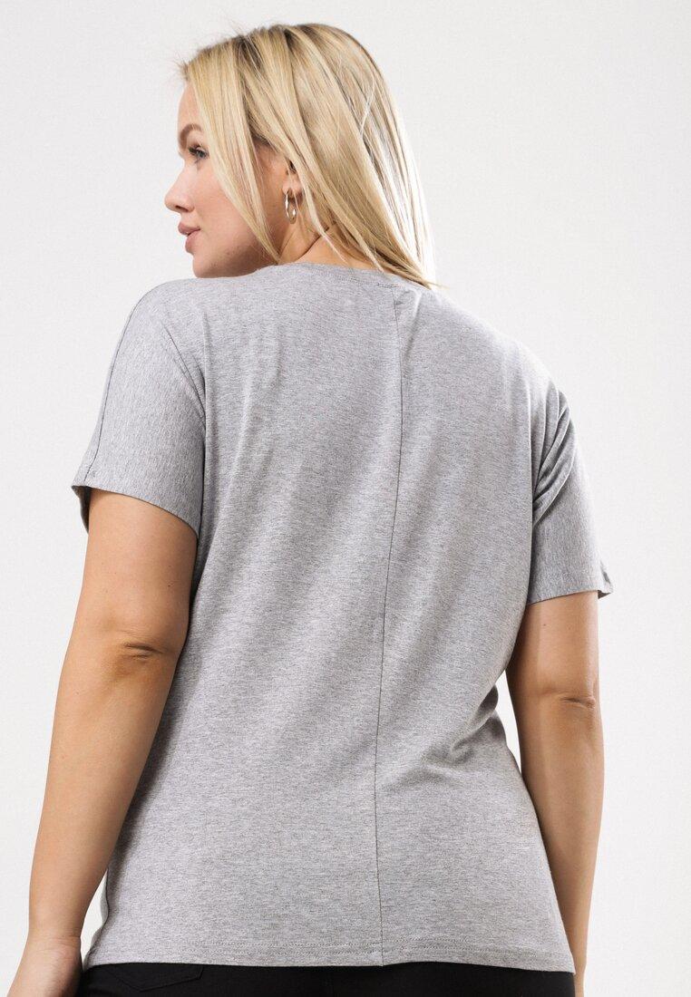 Jasnoszary T-shirt Famously