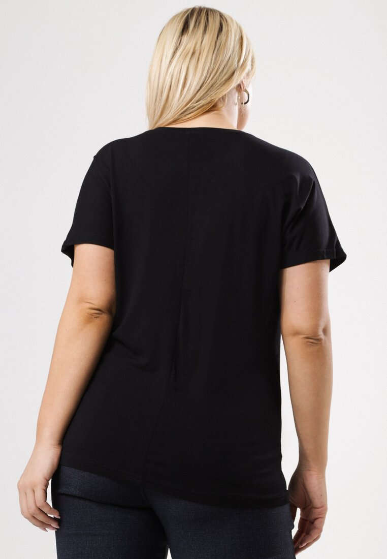 Czarny T-shirt Famously