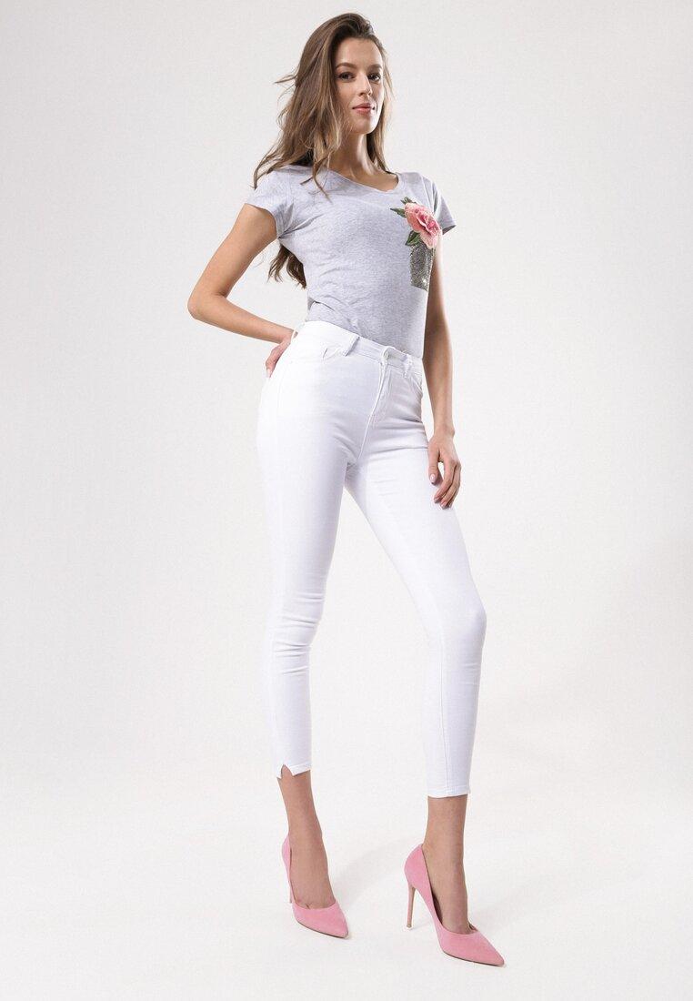 Białe Jeansy Errorless