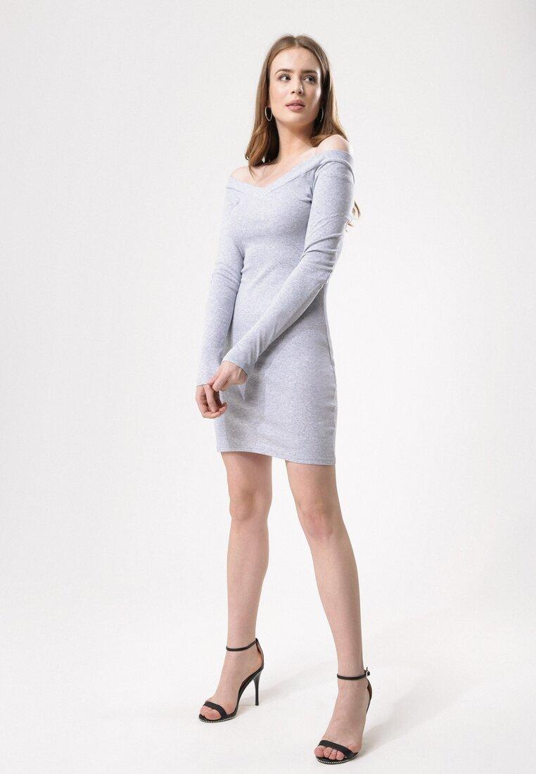 Szara Sukienka Stem