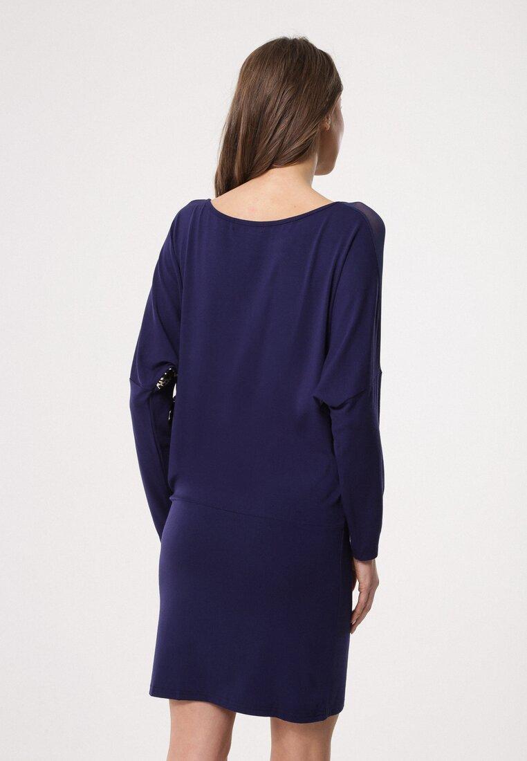 Granatowa Sukienka Materialize