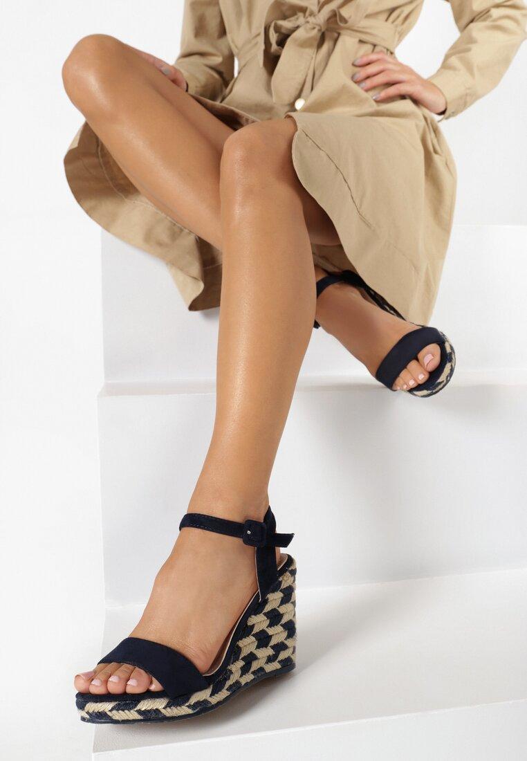Granatowe Sandały Undetermined