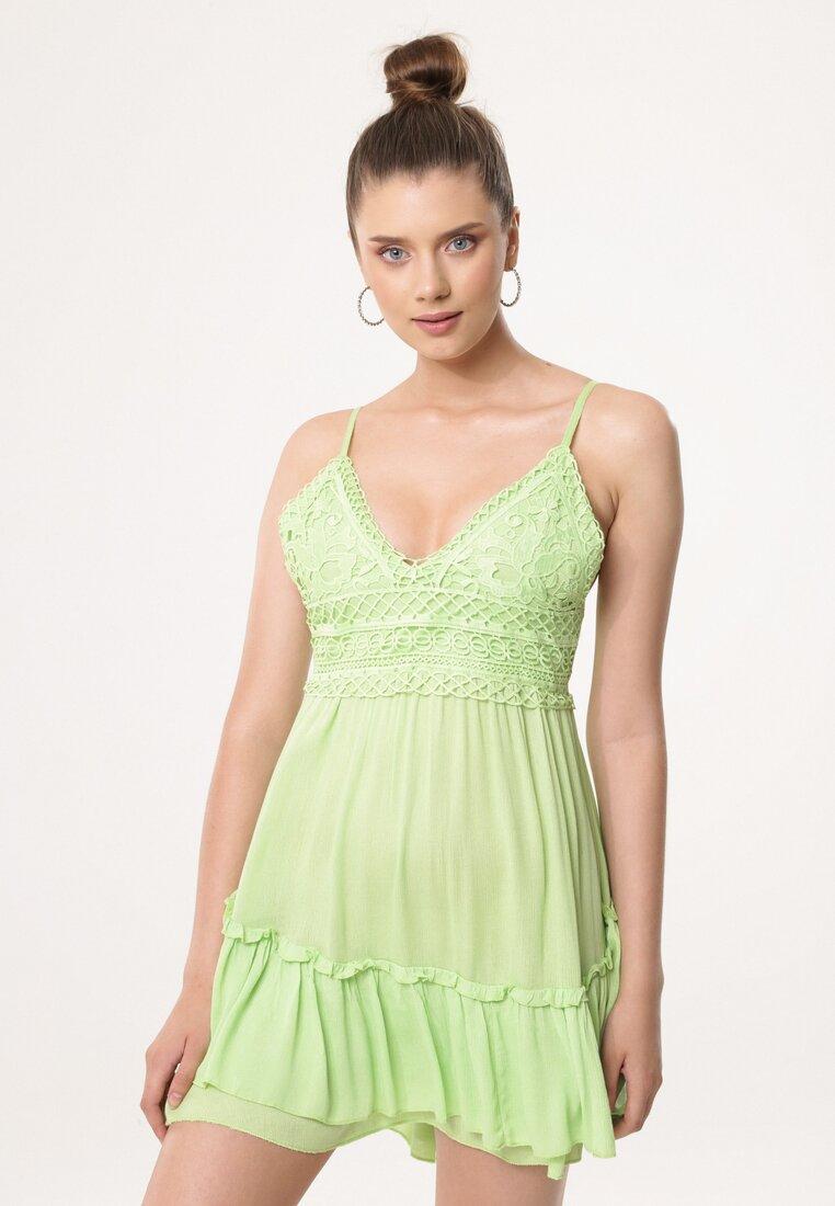 Jasnozielona Sukienka Very Intelligent