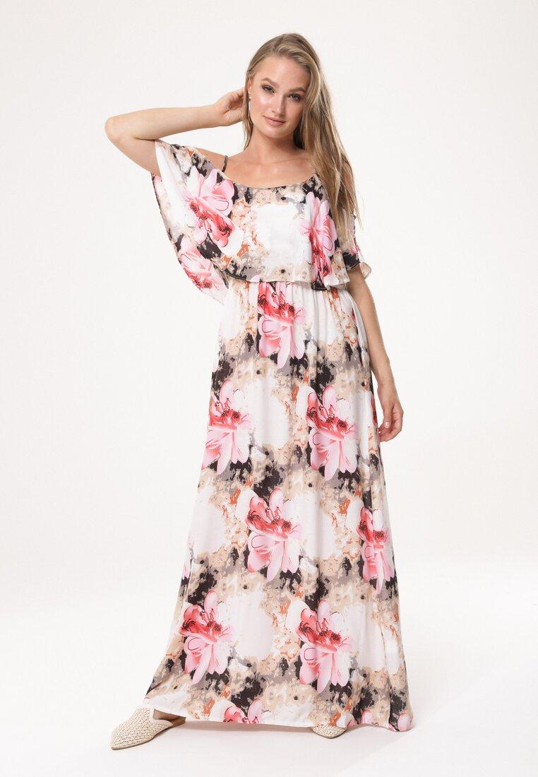 Beżowo-Różowa Sukienka Gladsome