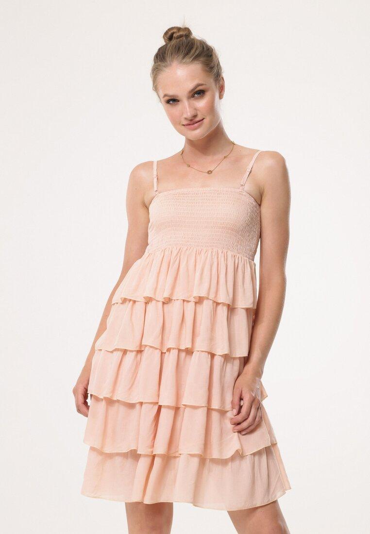 Jasnobeżowa Sukienka Megacosm
