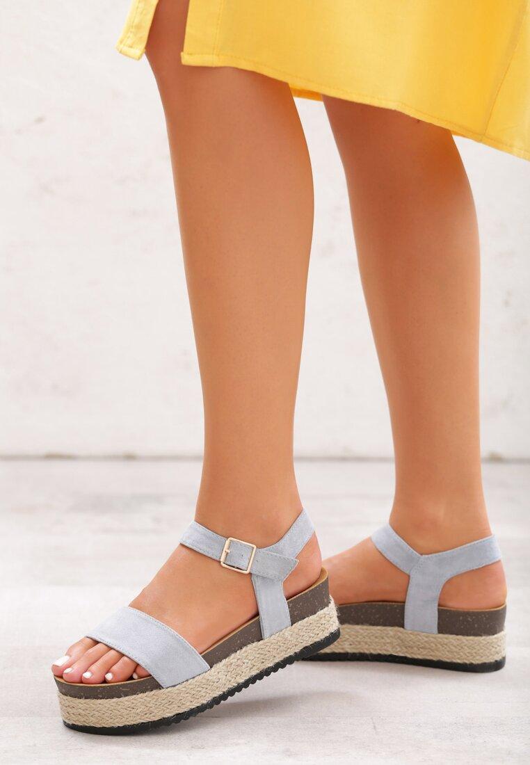 Niebieskie Sandały Forty