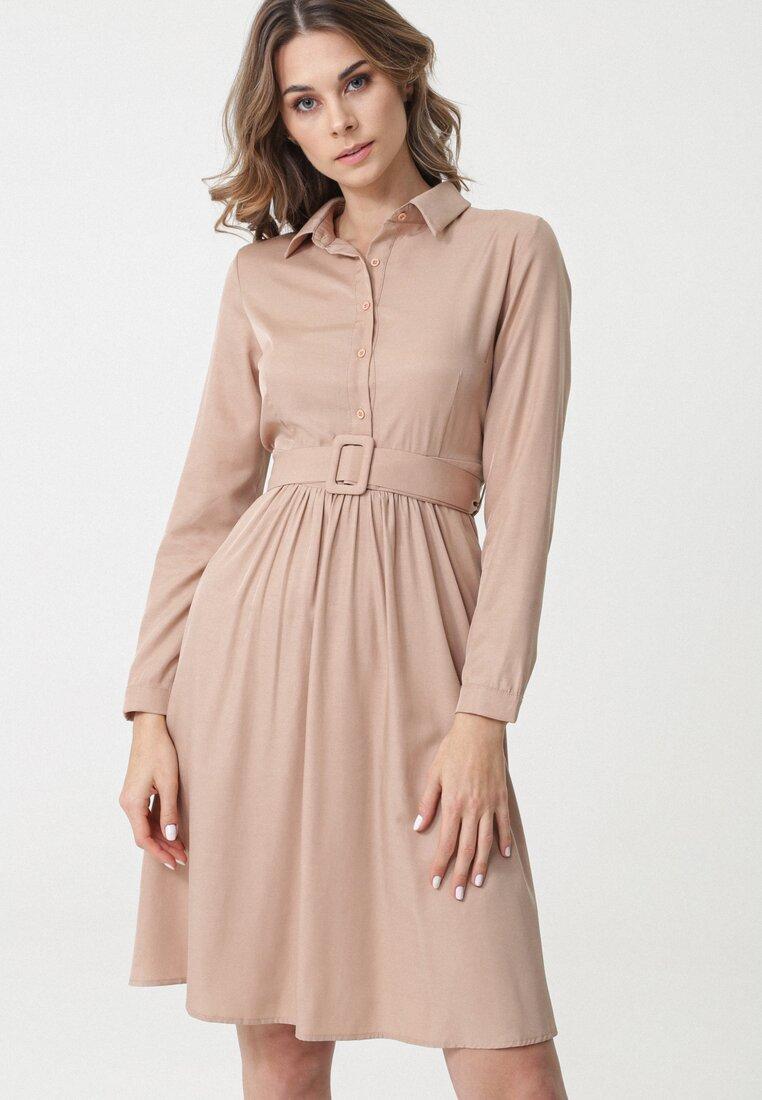 Beżowa Sukienka Talladega