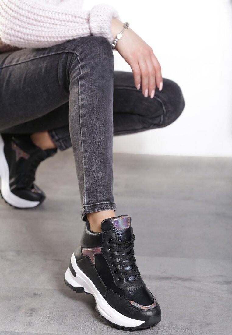 Czarne Sneakersy Devllin inny