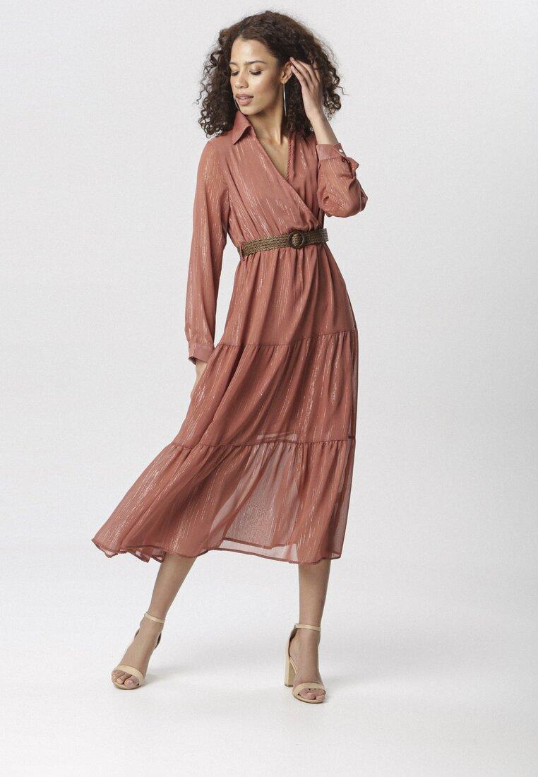 Łososiowa Sukienka Stacy other