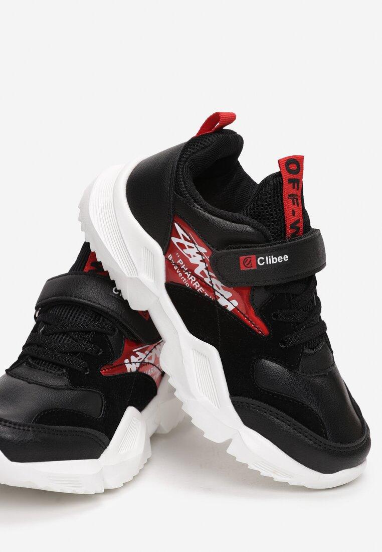 Czarno-Czerwone Buty Sportowe Peachstone inny