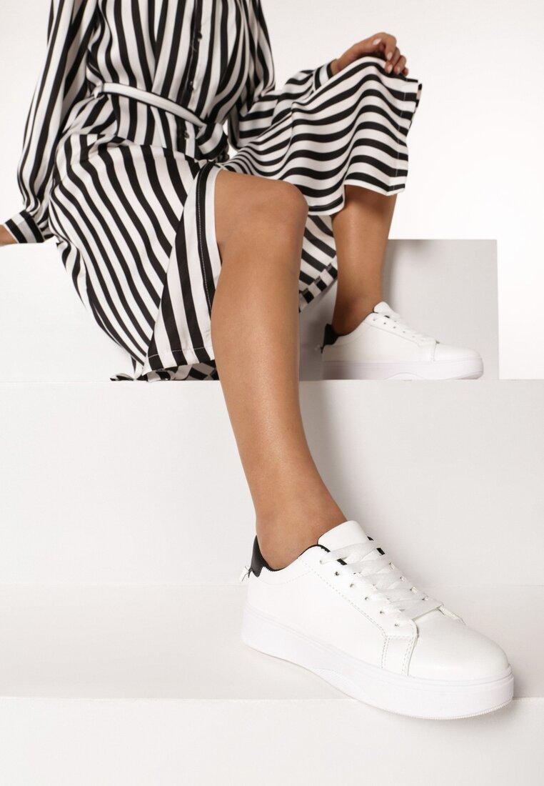Biało-Czarne Buty Sportowe Meniphei