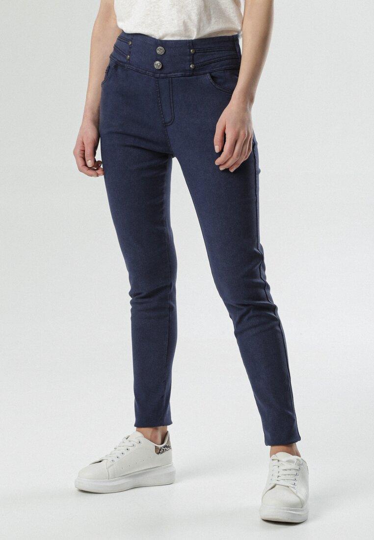 Granatowe Spodnie Melella other