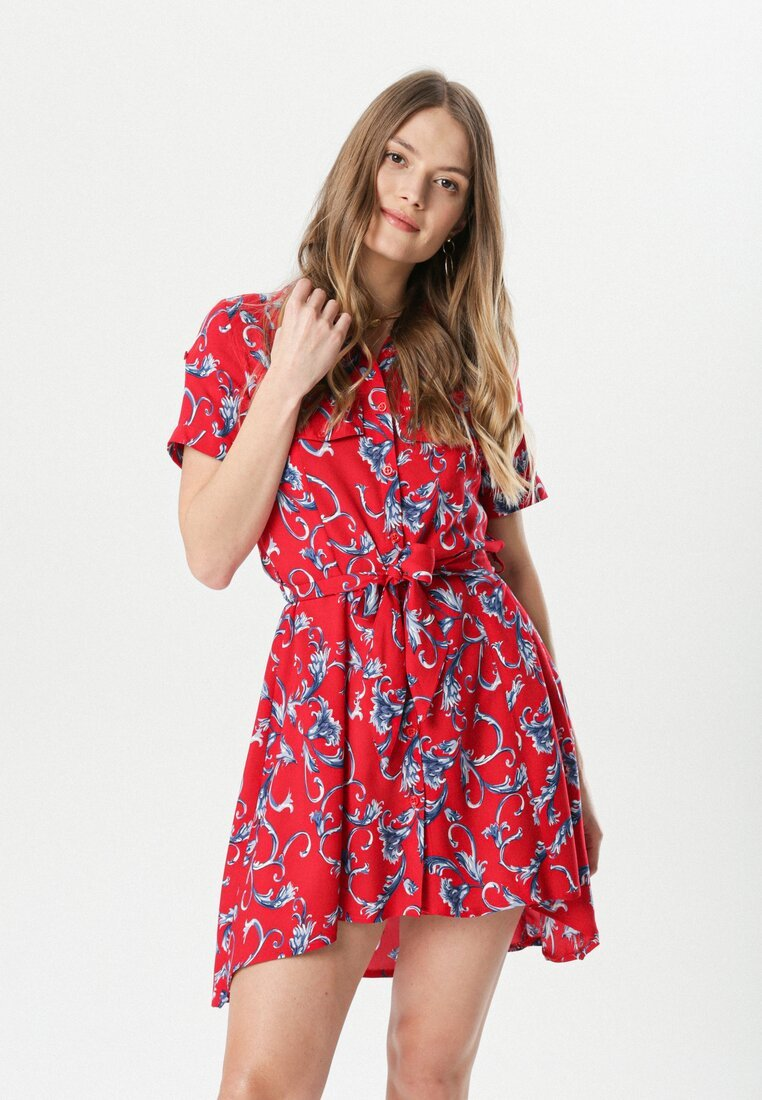 Czerwona Sukienka Clymisia